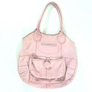 Old Navy pink genuine leather purse faded